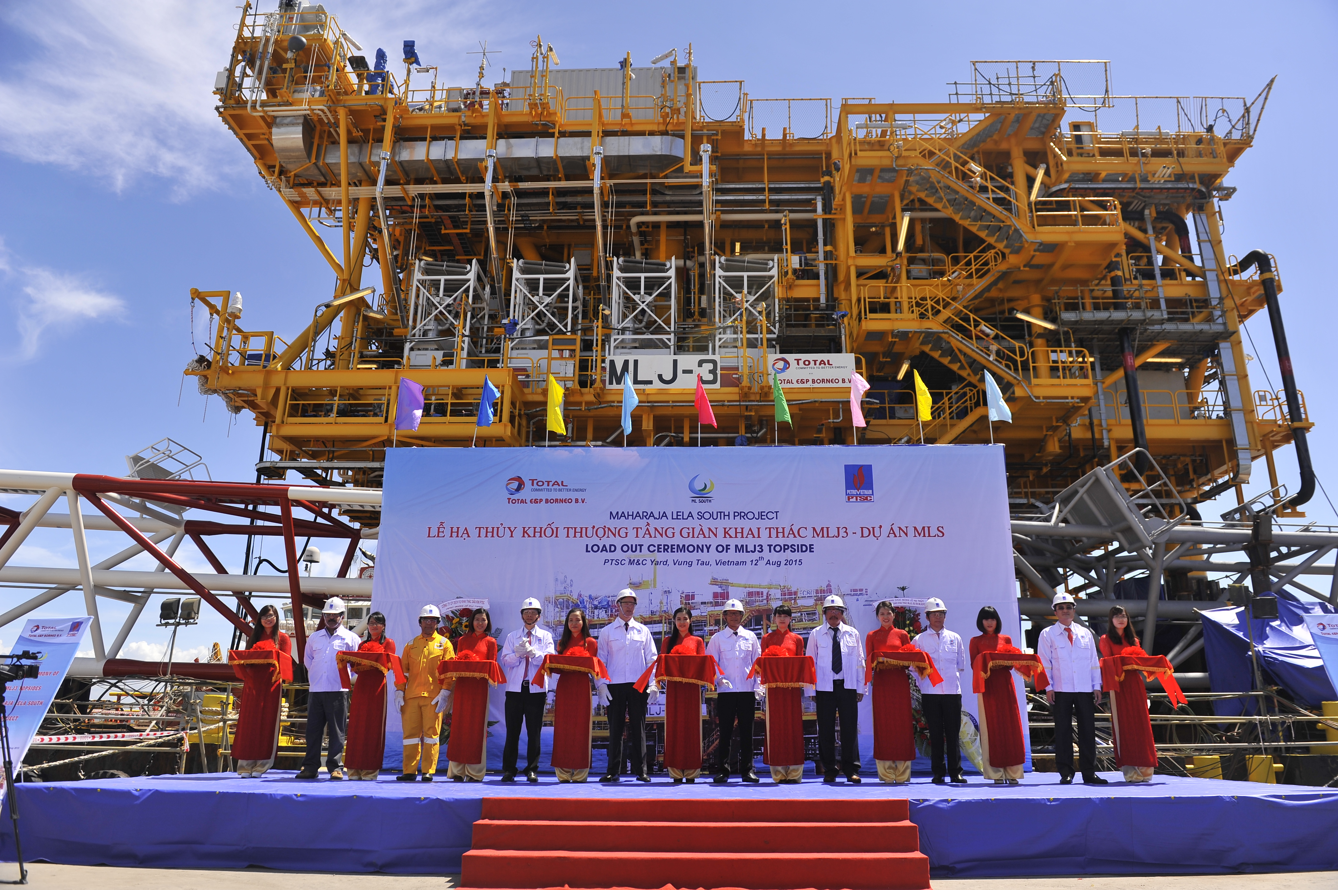Load-out ceremony of MLJ3 Topsides in Vietnam